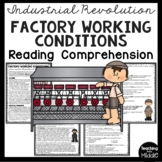 Factory Work during Industrial Revolution Reading Comprehe