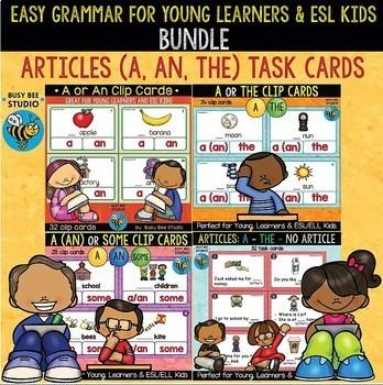 Articles Task/Clip Cards Bundle