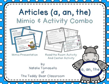 Articles (a, an, the):  Read the Room, Center, and Mimio Combo