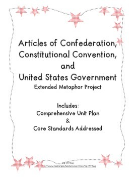 Articles of Confederation, Constitutional Convention and U