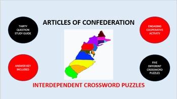 Articles of Confederation: Interdependent Crossword Puzzle