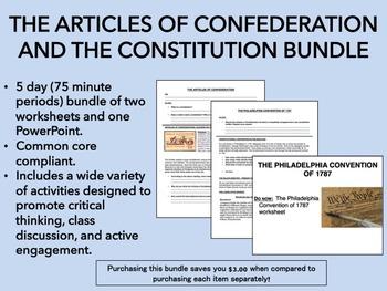 Articles of Confederation and U.S. Constitution Bundle - U