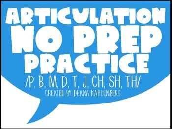 Articulation #1 {No Prep Practice}
