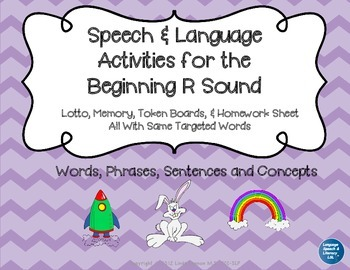 Articulation and Language Activities for the Beginning R Sound