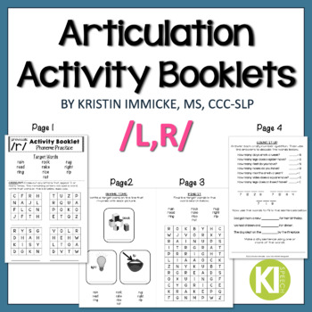 Articulation Activity Booklets /L,R/