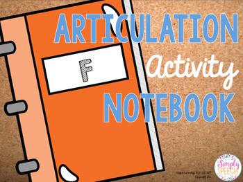 Articulation Activity Notebook: F
