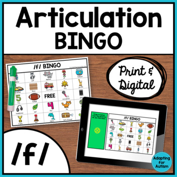 Articulation Game: /f/ BINGO (Speech Therapy)