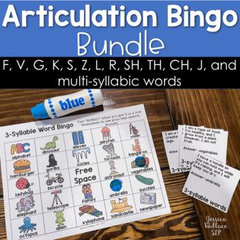 Articulation Bingo Bundle - with riddles