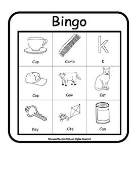 Articulation Bingo /k/
