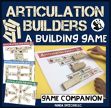 Articulation Builders! A speech therapy building game!