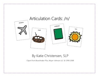 Articulation Cards - N
