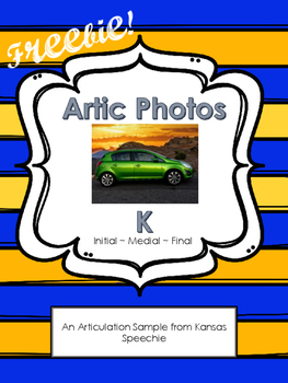 Articulation Cards with Real Photos: K initial, medial, fi