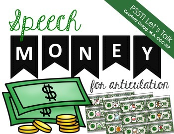Articulation Cash for Speech Therapy