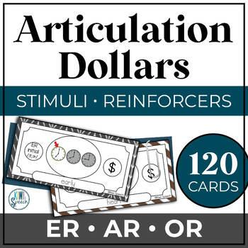 Articulation Dollar Bills - Vocalic R Set 1: ER, AR, OR