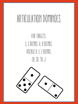 Articulation Dominoes: R, R Blends, Vocalic R, S, CH, SH,