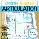 Articulation Doodles Spring Edition /r, s, l/, sh, ch, th, & j