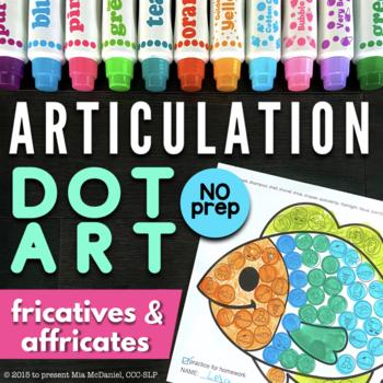 Articulation Dot Art {fricatives & affricates edition} No PREP
