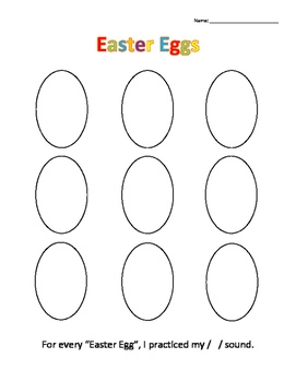 Articulation Easter Eggs Activity (All sounds)