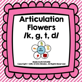 Articulation Flowers /K, G, T, D/