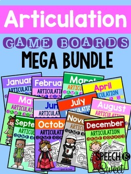 Articulation Game Boards Bundle