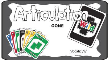 Articulation Gone WILD Vocalic R; Articulation Uno; Speech