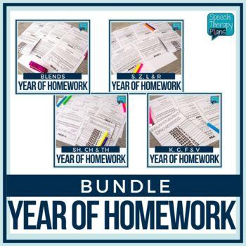 Articulation Homework Flip Book Bundle - 14 Sounds