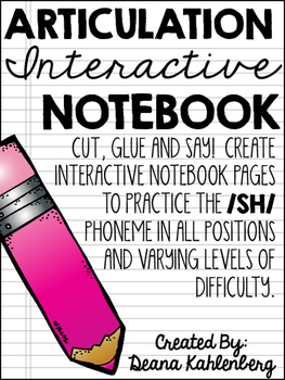 Articulation Interactive Notebook {/SH/}