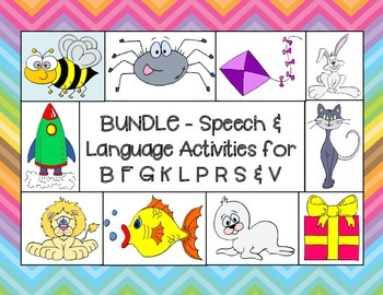 Articulation & Language Bundle # 1  for B, F, G, K, L, P,