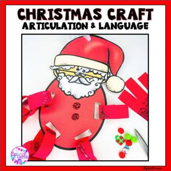 Articulation & Language Christmas Characters Craft