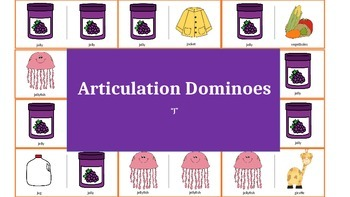 "Articulation & Language Dominoes: ""j"" Picture Stimuli"