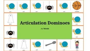 Articulation & Language Dominoes: /s/ blend Picture Stimuli