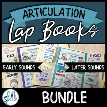 Articulation Lap Books - Early and Later Sounds BUNDLE