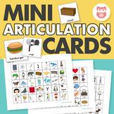 Mini Articulation Cards