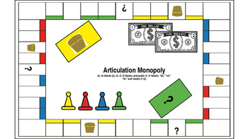 Articulation Monopoly Bundle; Speech Therapy; Articulation