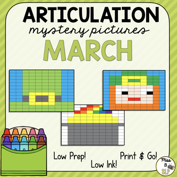 Articulation Mystery Pictures-March
