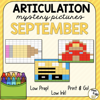 Articulation Mystery Pictures-September