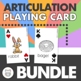 Articulation Playing Cards BUNDLE for Speech Therapy