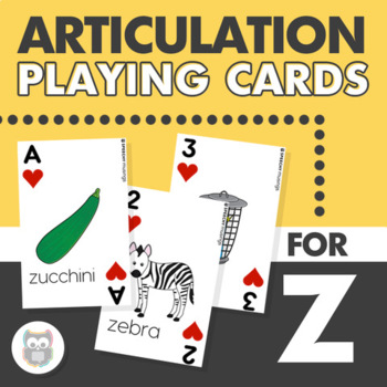 Articulation Playing Cards for Z - Card Deck