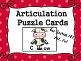 Articulation Puzzle Cards Initial K G V