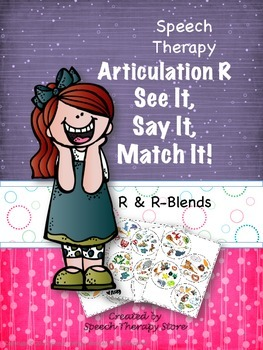Speech Therapy Articulation R & R Blends: See It, Say It,
