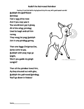 Articulation Rudolph the Red-nose Reindeer Song