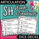 Articulation - SH - Words and Sentences - Interactive Task Cards