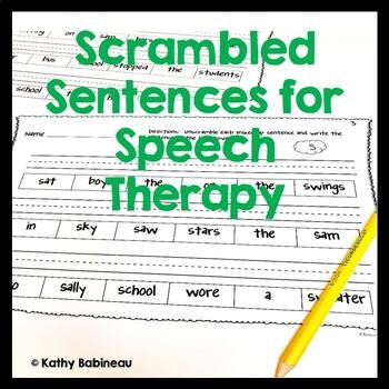 Articulation Scrambled Sentences No Prep