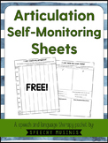 Articulation Self-Monitoring Sheets Freebie