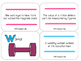 Articulation Sentence Task Cards: /y/ and /w/