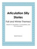 Articulation Silly Stories-Fall and Winter Theme