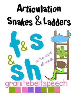 Articulation Snakes & Ladders 's', 'f' & 'sh' initial