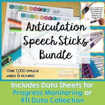 Articulation Speech Sticks Bundle:1000+ Stimulus Items wit