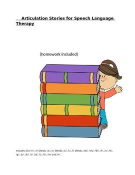 Articulation Stories for Speech Language Therapy