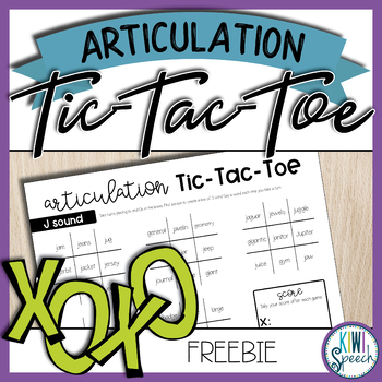 Articulation Tic-Tac-Toe - J sound *FREEBIE